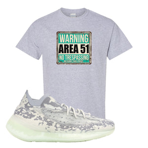 Yeezy 380 Alien T Shirt | Sport Gray, Area 51 Sign