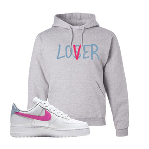 Air Force 1 Low Fire Pink Hoodie | Ash, Lover