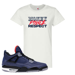 Jordan 4 WNTR Loyal Blue Money, Power, Respect White Sneaker Hook Up Women's T-Shirt