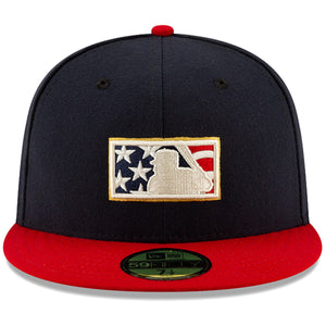 MLB Umpire Stars and Stripes 2019 Fourth Of July On Field 59Fifty Fitted Umpire Hat