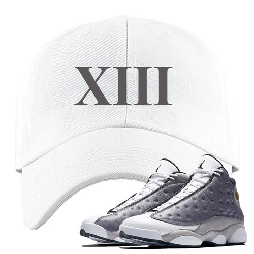 Jordan 13 Atmosphere Grey XIII White Dad Hat
