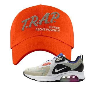Air Max 200 WMNS Fossil Sneaker Orange Dad Hat | Hat to match Nike Air Max 200 WMNS Fossil Shoes | Trap To Rise Above Poverty