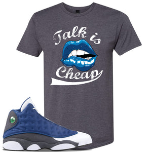 Jordan 13 Flint 2020 Sneaker Charcoal T Shirt | Tees to match Nike Air Jordan 13 Flint 2020 Shoes | Talk Is Cheap