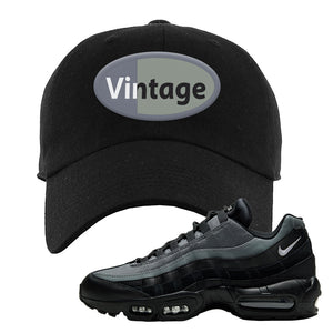Air Max 95 Black Smoke Grey Dad Hat | Vintage Oval, Black