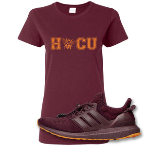 Hocu Maroon Women's T-Shirt to match Ivy Park X Adidas Ultra Boost Sneaker