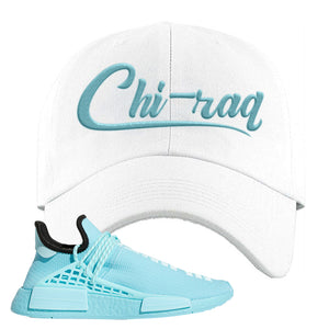 Pharell x NMD Hu Aqua Dad Hat | Chiraq, White
