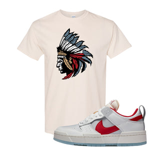 Dunk Low Disrupt Gym Red T Shirt | Indian Chief, Natural
