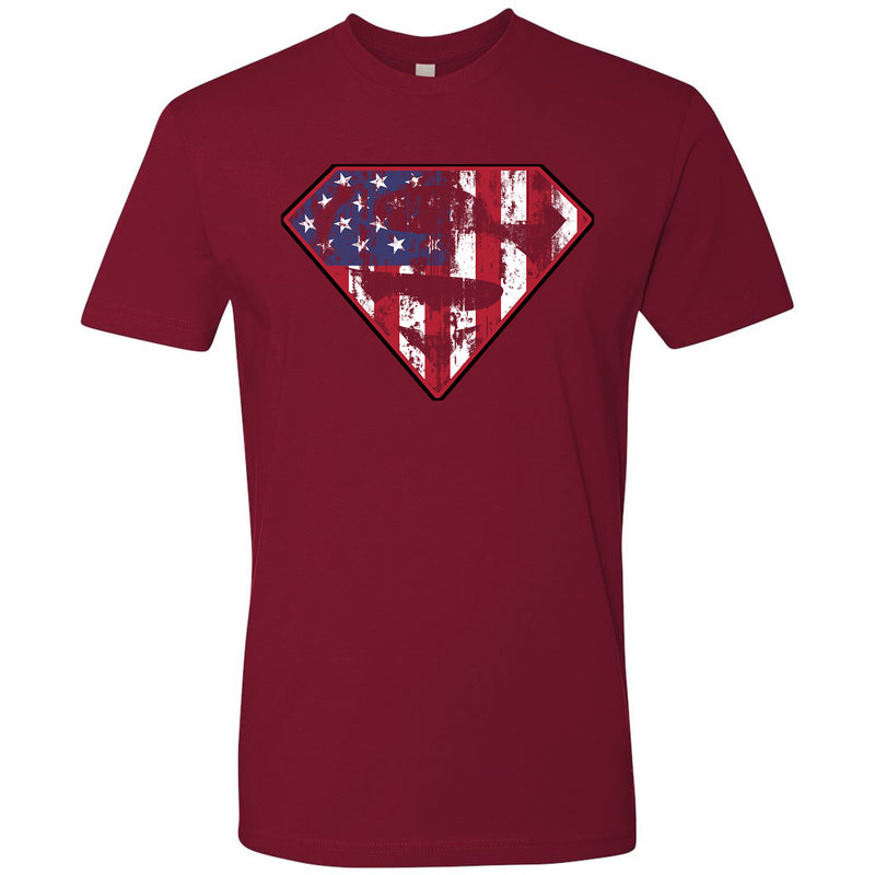 Standard Issue Diamond S Logo American Flag Distressed Red Grunt Life T-Shirt