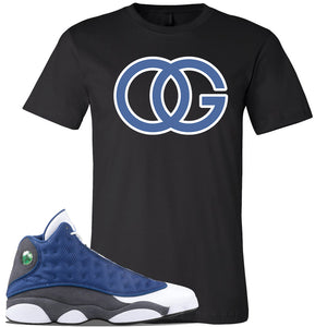 Jordan 13 Flint 2020 Sneaker Black T Shirt | Tees to match Nike Air Jordan 13 Flint 2020 Shoes | OG