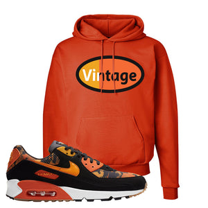 Air Max 90 Orange Camo Hoodie | Vintage Oval, Orange