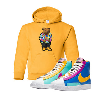 Blazer Mid Big Kids Hoodie | Gold, Sweater Bear