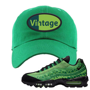 Air Max 95 Naija Dad Hat | Vintage Oval, Kelly Green