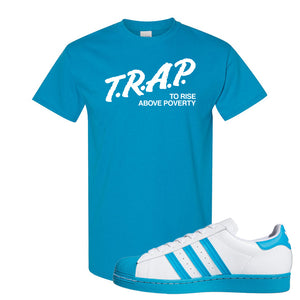 Adidas Superstar 'Aqua Toe' T Shirt | Sapphire, Trap To Rise Above Poverty