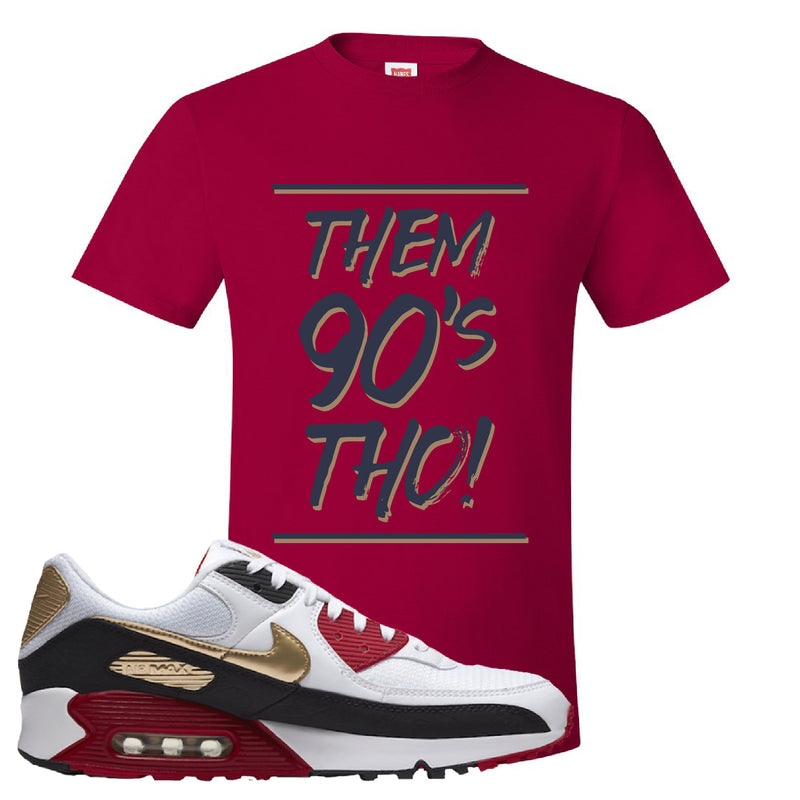 Air Max 90 Chinese New Year T Shirt | Deep Red, Them 90's Tho