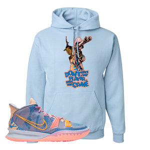 Kyrie 7 Expressions Hoodie | Dont Hate The Playa, Light Blue