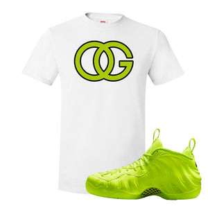 Air Foamposite Pro Volt T Shirt | OG, White