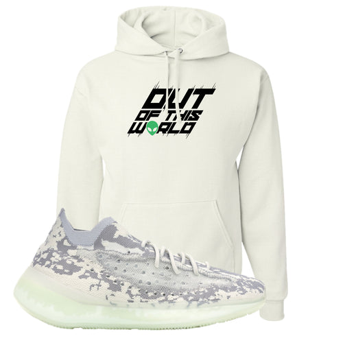 Yeezy Boost 380 Alien Outta This World White Sneaker Matching Pullover Hoodie