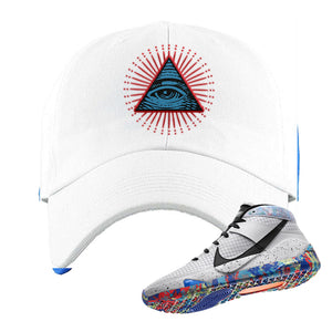 KD 13 Home Dad Hat | White, All Seeing Eye