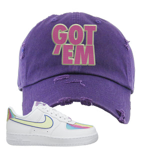 Air Force 1 Low Easter Distressed Dad Hat | Lavender, Got Em