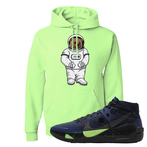 KD 13 Planet of Hoops Hoodie | Astro Bear, Neon Green