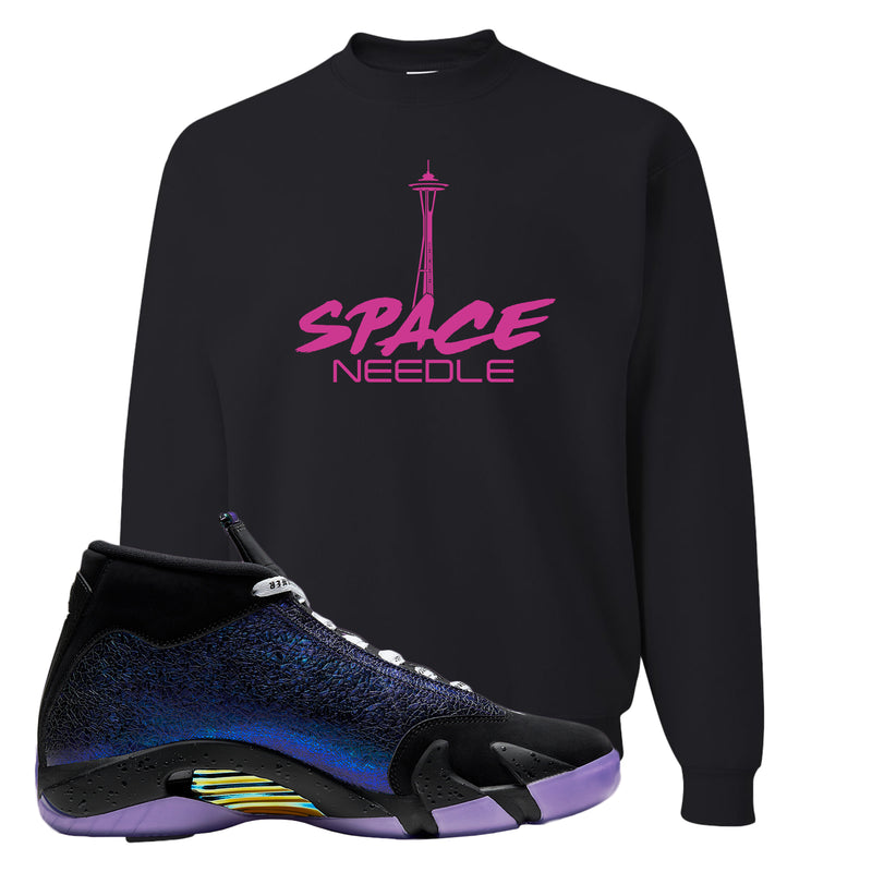 Jordan 14 Doernbecher Crewneck Sweatshirt | Black, Space Needle