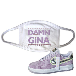 Air Force 1 P[her]spective Face Mask | White, Damn Gina