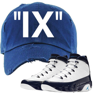 Match your pair of Jordan 9 UNC Blue Pearl All Star sneakers with this Jordan 9 UNC sneaker matching dad hat