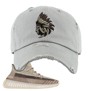 Yeezy 350 v2 Zyon Dad Hat | Light Gray, Indian Chief