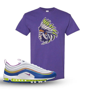 Air Max 97 'Easter' Sneaker Lilac T Shirt | Tees to match Nike Air Max 97 'Easter'Shoes | Indian Chief