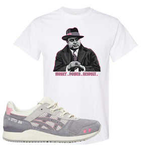 END x Asics Gel-Lyte III Grey And Pink T Shirt | Capone Illustration, White