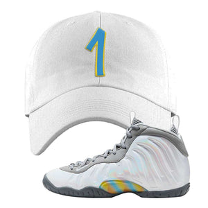 Lil Posite One Rainbow Pixel Dad Hat | White, Penny One