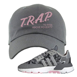 WMNS Nite Jogger True Pink Camo Dad Hat | Dark Gray, Trap to Rise Above Poverty