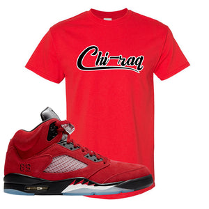 Air Jordan 5 Raging Bull T Shirt | Chiraq, Red