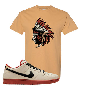 SB Dunk Low Muslin T Shirt | Indian Chief, Old Gold