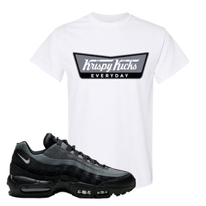 Air Max 95 Black Smoke Grey T Shirt | Krispy Kicks, White