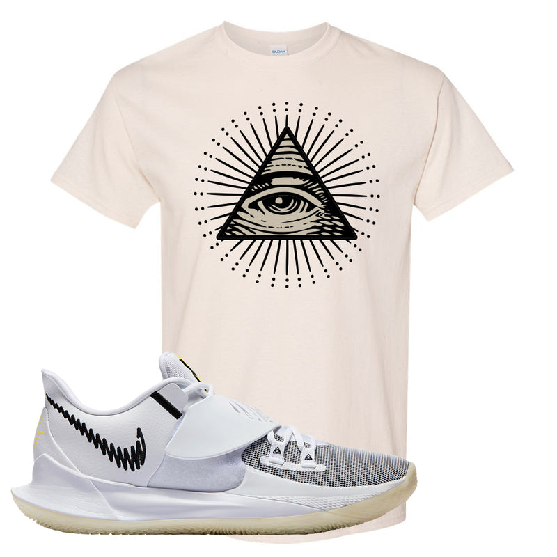 Kyrie Low 3 T Shirt | Natural, All Seeing Eye