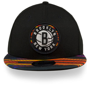 Front of Brooklyn Nets Tripbal brim Snapback | Brooklyn nets Nba city 2019 series 9fifty snapback