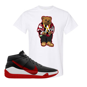 KD 13 Bred T-Shirt | Sweater Bear, White