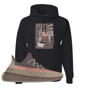 Yeezy 350 v2 Ash Stone Hoodie | Attack Of The Bear, Black