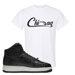 Air Force 1 High Hotline T Shirt | Chiraq, White