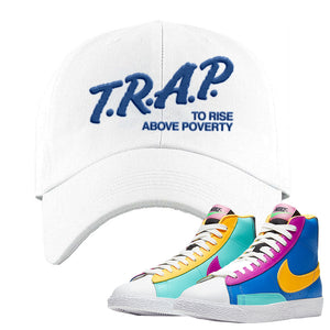Blazer Mid Big Kids Dad Hat | White, Trap To Rise Above Poverty