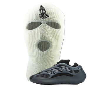Yeezy 700 v3 Alvah Ski Mask | White, Praying Hands
