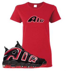Air More Uptempo Laser Crimson Air From The Sneaker Red Sneaker Hook Up Women's T-Shirt