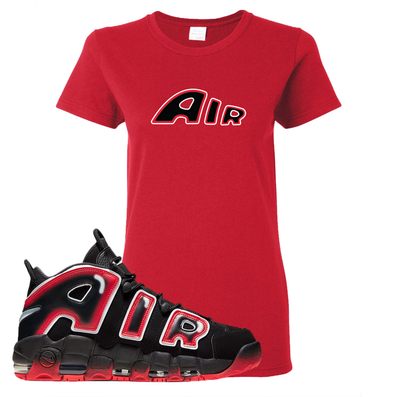 Air More Uptempo Laser Crimson Women's T Shirt | Red, Air From The Sneaker