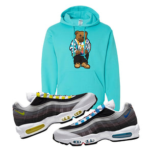 Air Max 95 QS Greedy Hoodie | Scuba Blue, Sweater Bear