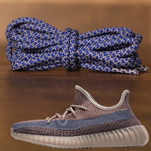Match your pair of Yeezy Boost 350 V2 Fade with this pair of reflective rope royal blue yeezy matching shoe laces