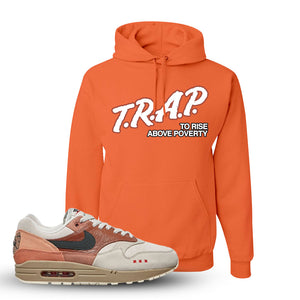 Air Max 1 Amsterdam City Pack Sneaker Retro Heather Coral Pullover Hoodie | Hoodie to match Nike Air Max 1 Amsterdam City Pack Shoes | Trap To Rise Above Poverty