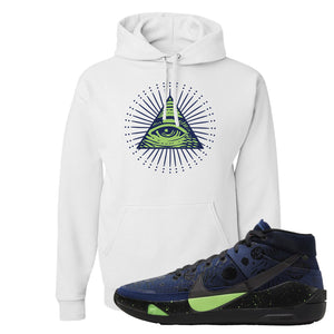 KD 13 Planet of Hoops Hoodie | All Seeing Eye, White