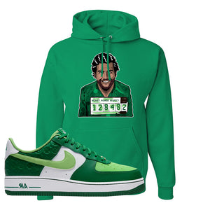 Air Force 1 Low St. Patrick's Day 2021 Hoodie | Escobar Illustration, Kelly