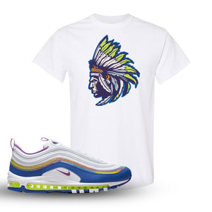 Air Max 97 'Easter' Sneaker White T Shirt | Tees to match Nike Air Max 97 'Easter' Shoes | Indian Chief